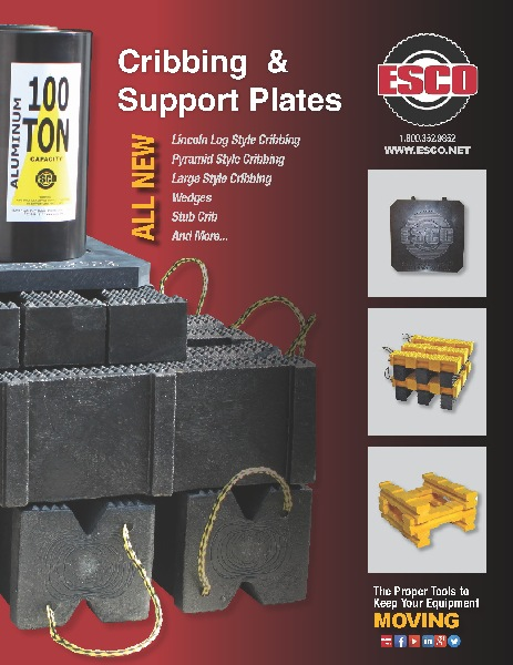 ESCO cribbing and support plates